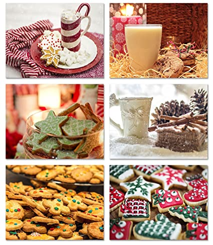 Christmas Treats Blank Note Cards Holiday Cookies And Beverages