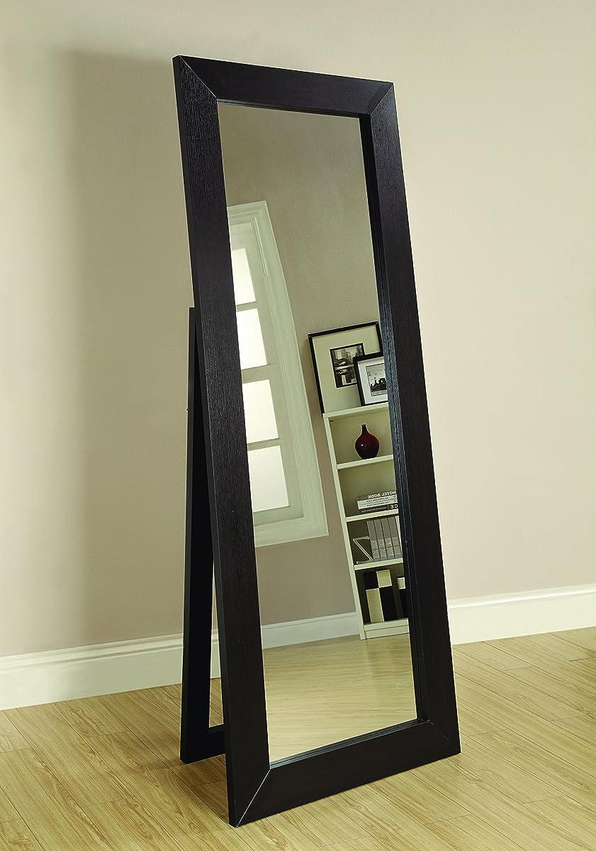 Coaster Home Furnishings Beveled Frame Floor Mirror Dark Cappuccino