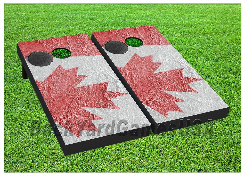 ビニールラップCornholeボードデカールカナダ国旗bagtossゲームステッカー355   B076YFSC1S