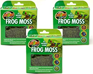 Zoo Med Frog Moss, 80 Cubic Inches Each (3 Pack)