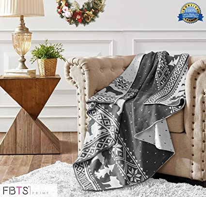 Amazon.com  FBTS Prime Knitted Throw Blanket 50