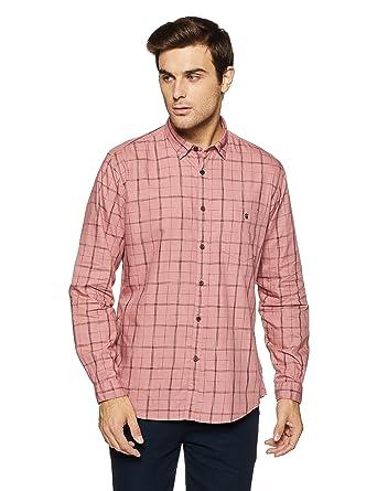 67679ccc458 LP Louis Philippe Men s Geometric Print Slim Fit Casual Shirt  Amazon.in   Clothing   Accessories