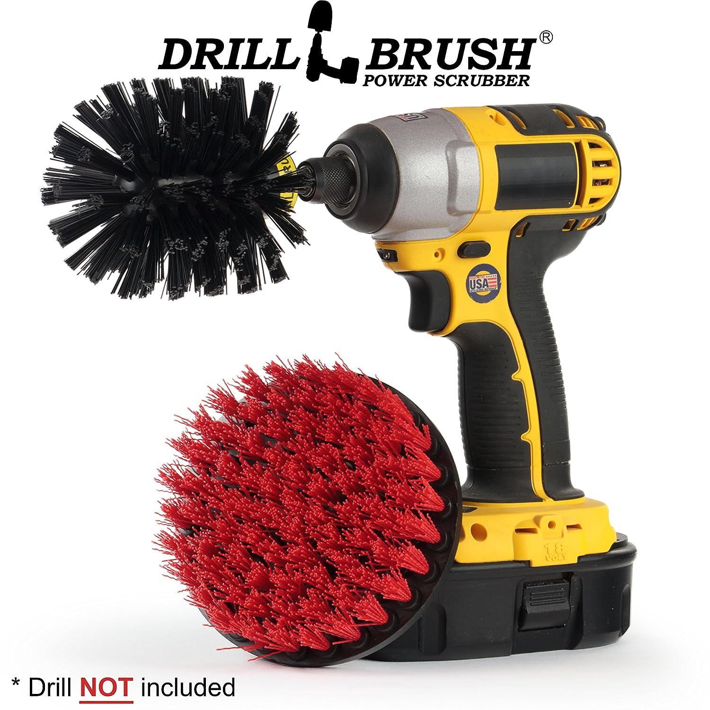 Drill Powered Scrub Brush Attachments. Clean Decks, Headstones, Tile, and Granite. Remove Graffiti From Stone, Brick, and Masonry. Scrape and Scrub your BBQ Grill. Drillbrush 4332949333