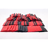 SummitLink® 428 Pcs Assorted Heat Shrink Tube 10 Sizes Tubing Wrap Sleeve Set Combo of Red Black