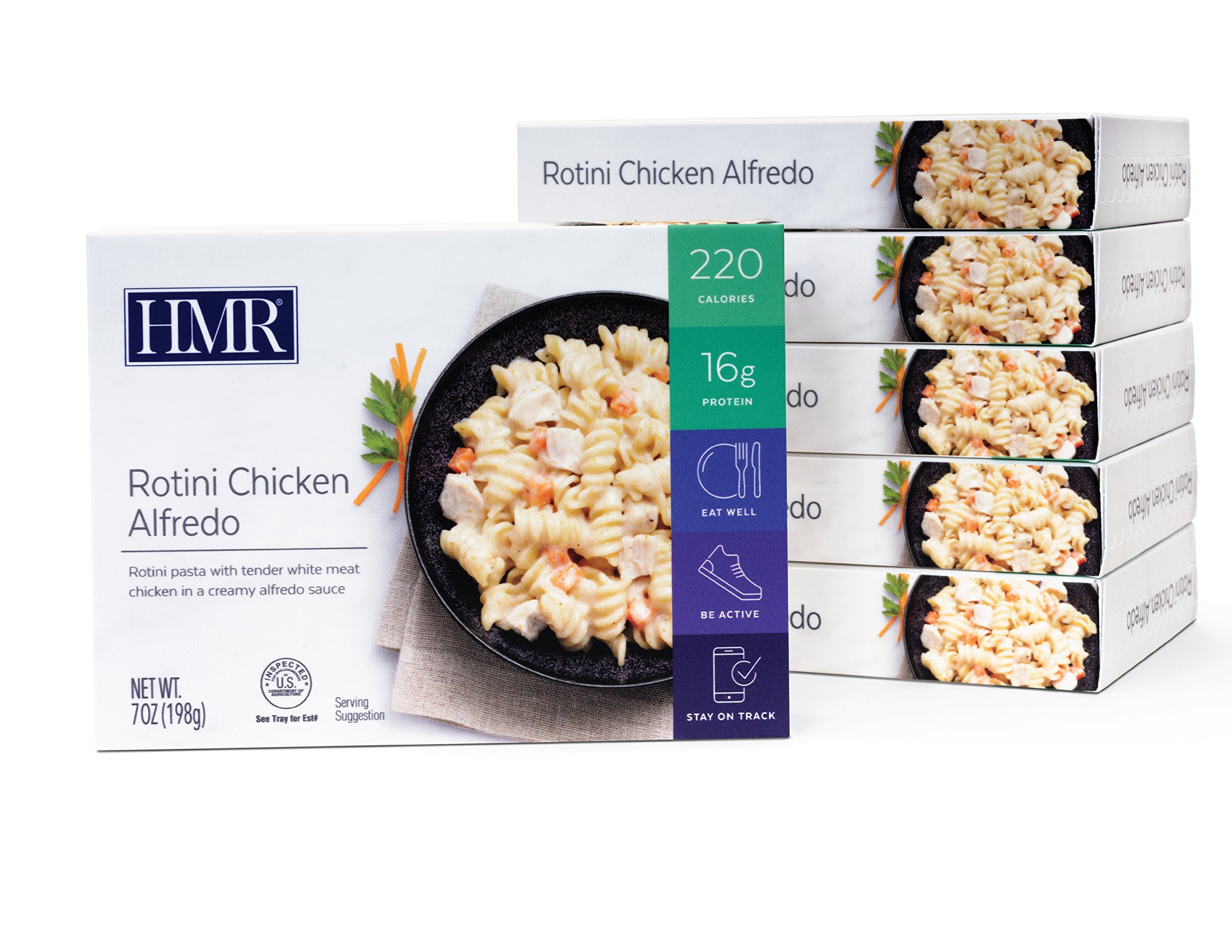 HMR Rotini Chicken Alfredo Entree, 7 oz. Servings, 6 Count by HMR