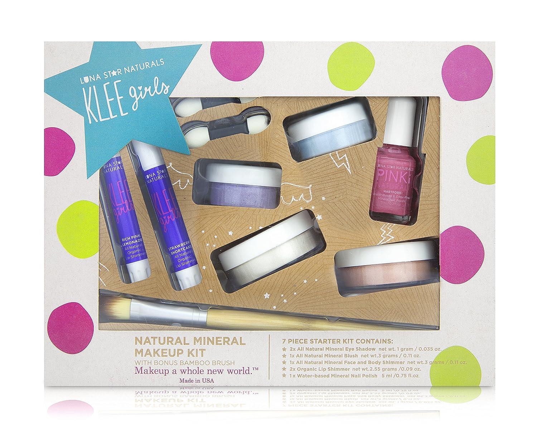 Luna Star Naturals Klee Girls 7 Piece Kit with Bonus Bamboo Brush up and Away Gift Set 1 Count