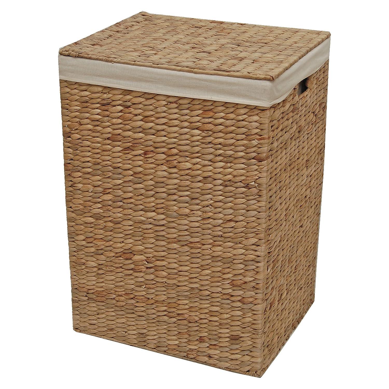 Geflochtener Aufbewahrungskorb, für Wäsche oder Spielzeug, Weide metall, natur, Large - L 44 x W 35 x H 63 cm