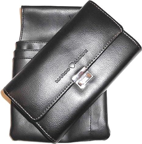 Borsa cameriere taxista portafogli nero di pelle PU con fondina
