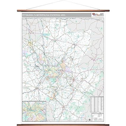 Amazon Com Marketmaps Pittsburgh Pa Metro Area Wall Map 2018