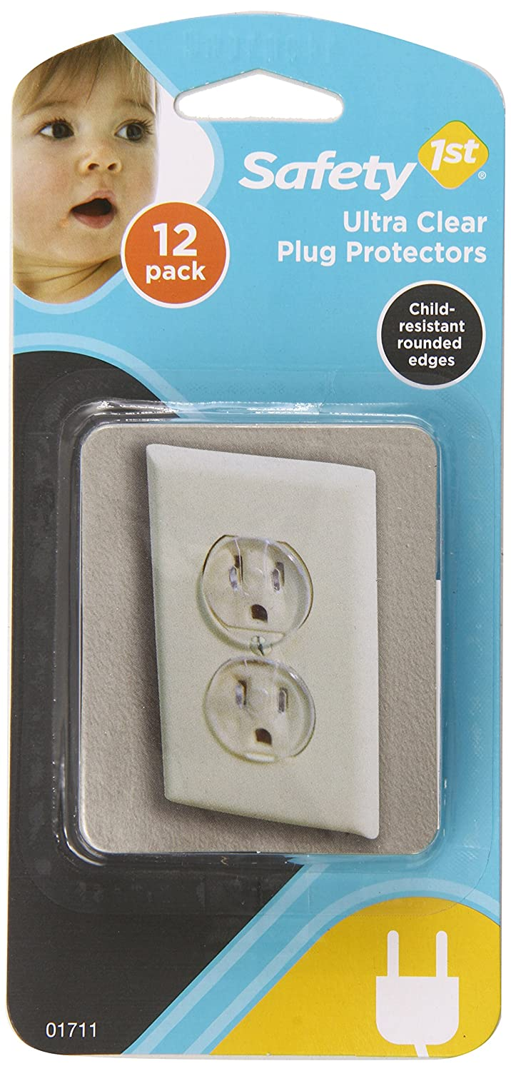 Safety 1st 12 Pack Ultra Clear Outlet Plugs 01711