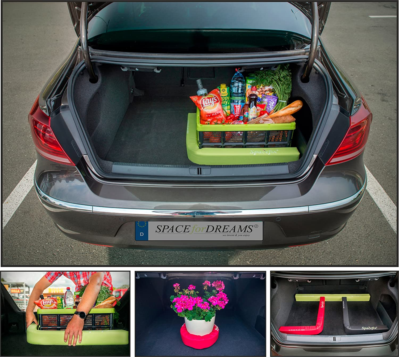 Equipaje Fijación SPACEFIX® (Verde) - original, práctico, elemento de fijación para el espacio de equipaje de su automóvil. práctico elemento de fijación para el espacio de equipaje de su automóvil. SPACEforDREAMS spx