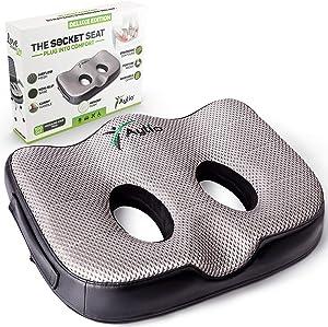 Socket Seat – Memory Foam Sit Bone Relief Cushion for Butt, Lower Back, Hamstrings, Hips, Ischial Tuberosity