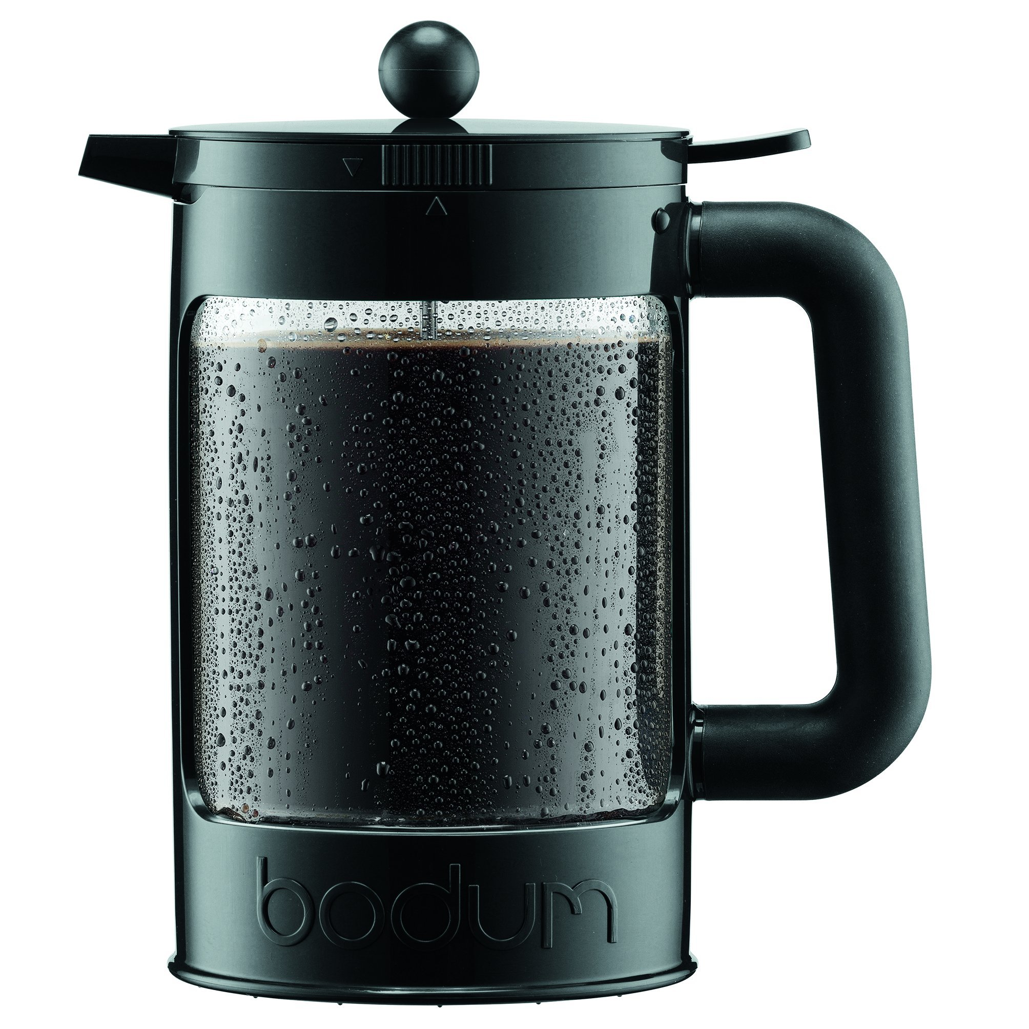 Bodum Bean Cold Brew Coffee Maker, Press, Plastic, 1.5 Liter, 51 Ounce, Black by Bodum (Image #1)