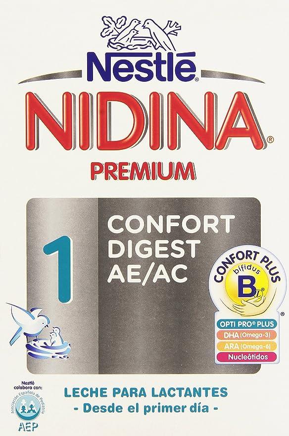 Nestlé Nidina 1 Confort Digest AE/AC Leche para Lactantes, en Polvo - 750 gr: Amazon.es: Alimentación y bebidas