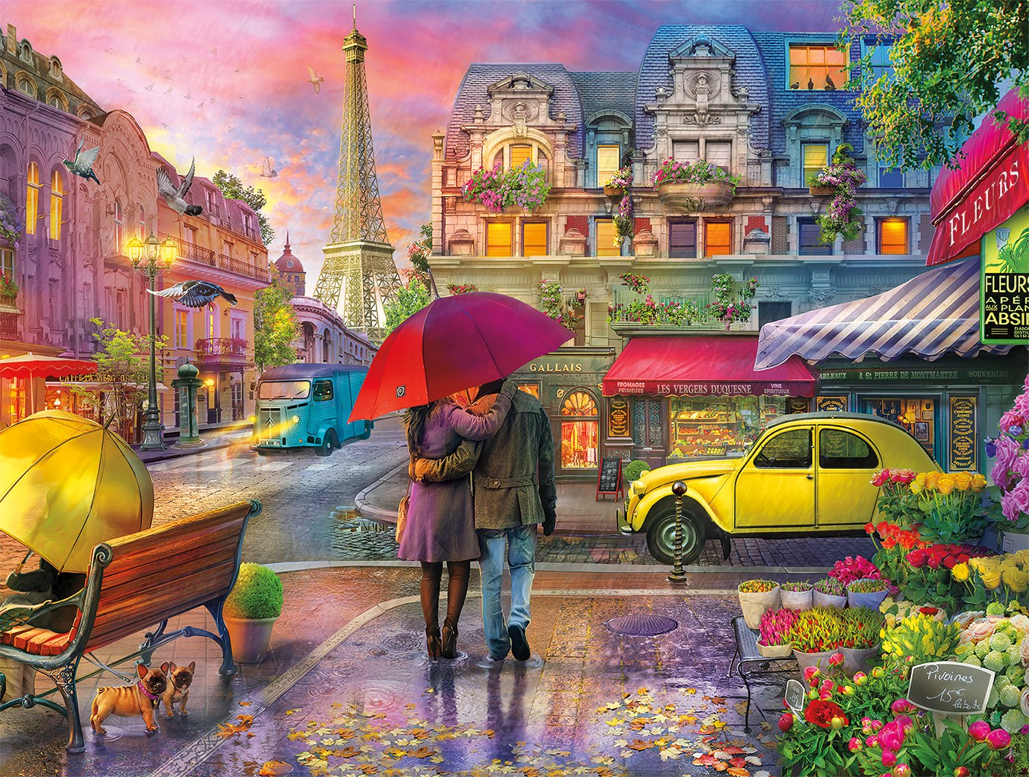 Buffalo Games - Cities in Color - Raining in Paris - 750 Piece Jigsaw Puzzle by Buffalo Games