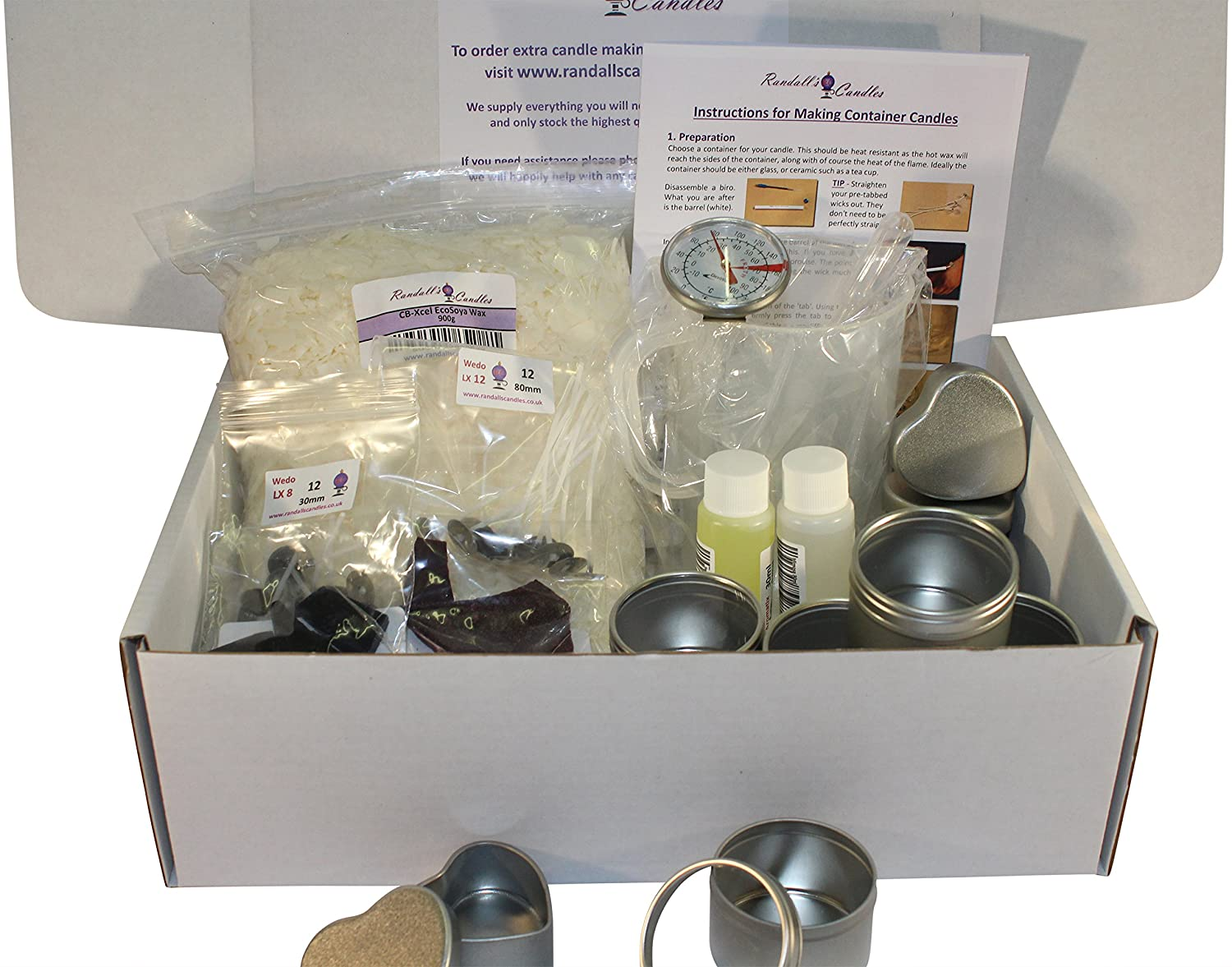 Complete Beginners Candle Making Kit - Tins - Aromatherapy 1 Randall's Candles
