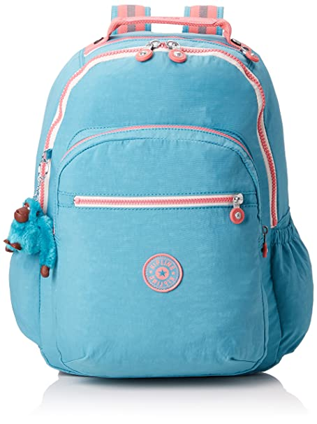 09970e986 Kipling Backpack with Laptop Compartment - Seoul GO (Blue Tan Block):  Amazon.in: Bags, Wallets & Luggage