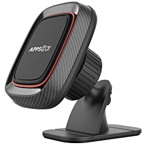 Magnetic Car Phone Mount, APPS2Car Stick On Dashboard Universal Magnetic Car Phone Mount Holder for Cell Phones with Strongest VHB Adhesive, Magnet Phone Holder for Car