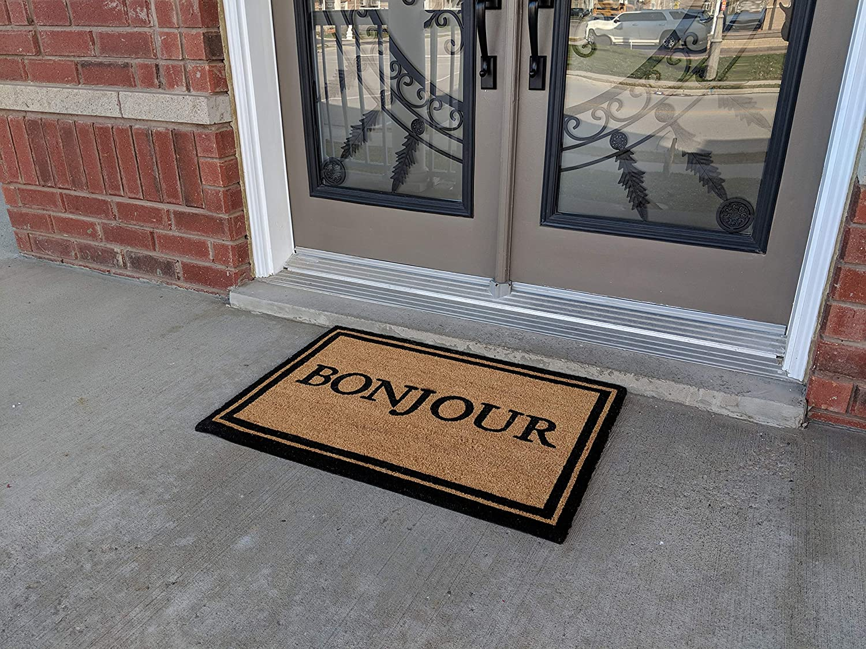 All Natural Coir Door Mats Gift 24 X 36 Inches Entrance Patio Deck Floor Door Indoor And Outdoor With Pvc Slip Free Rubber Back Bonjour Kitchen Dining