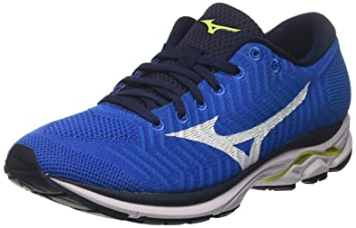 half off 4904b 19234 Mizuno Waveknit R1, Chaussures de Running Homme, Bleu  (Brilliantblue White Safetyyellow