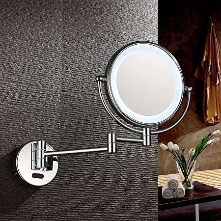 Charmant AECHOO Wall Mounted Mirrors Makeup Shaving Mirror LED Lighted Luxury Bathroom  Mirror For Hotel Vanity With