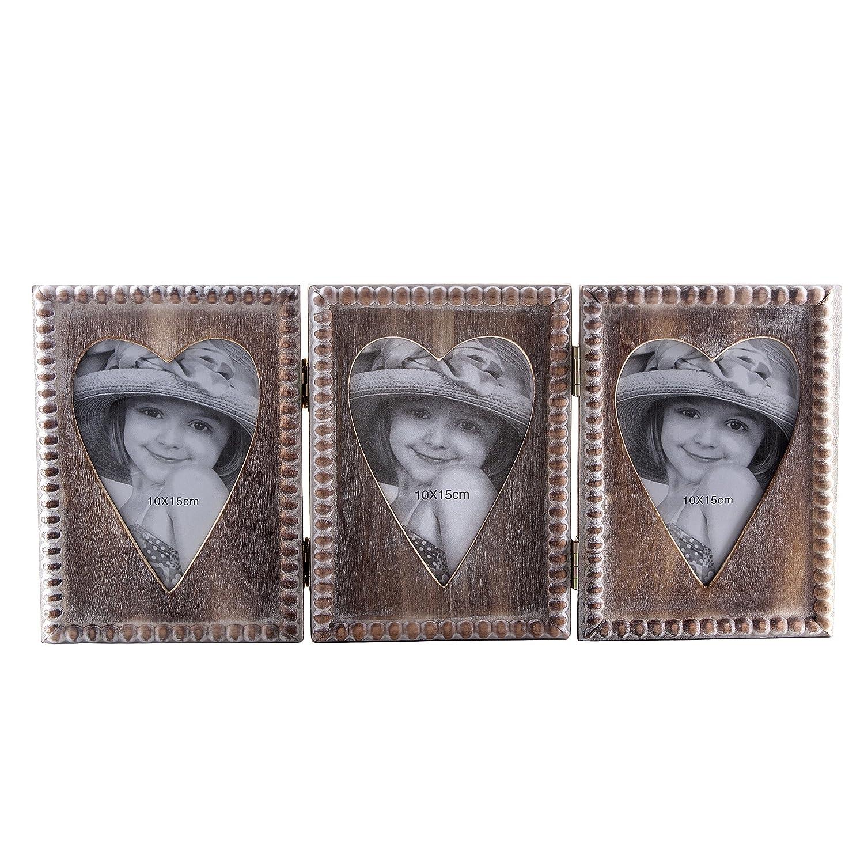 Amazon.de: Dekorative Drei Fold mit Herz Bilderrahmen für Babyfotos