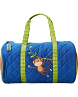 Stephen Joseph Little Boys' Quilted Duffle, Monkey, Blue, One Size