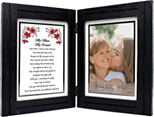 Gift for Mom - My Mom, My Friend - 5x7 Picture Frame - Birthday, Mothers Day, Christmas, Valentines Day, Mother of the Bride, Mother of the Groom