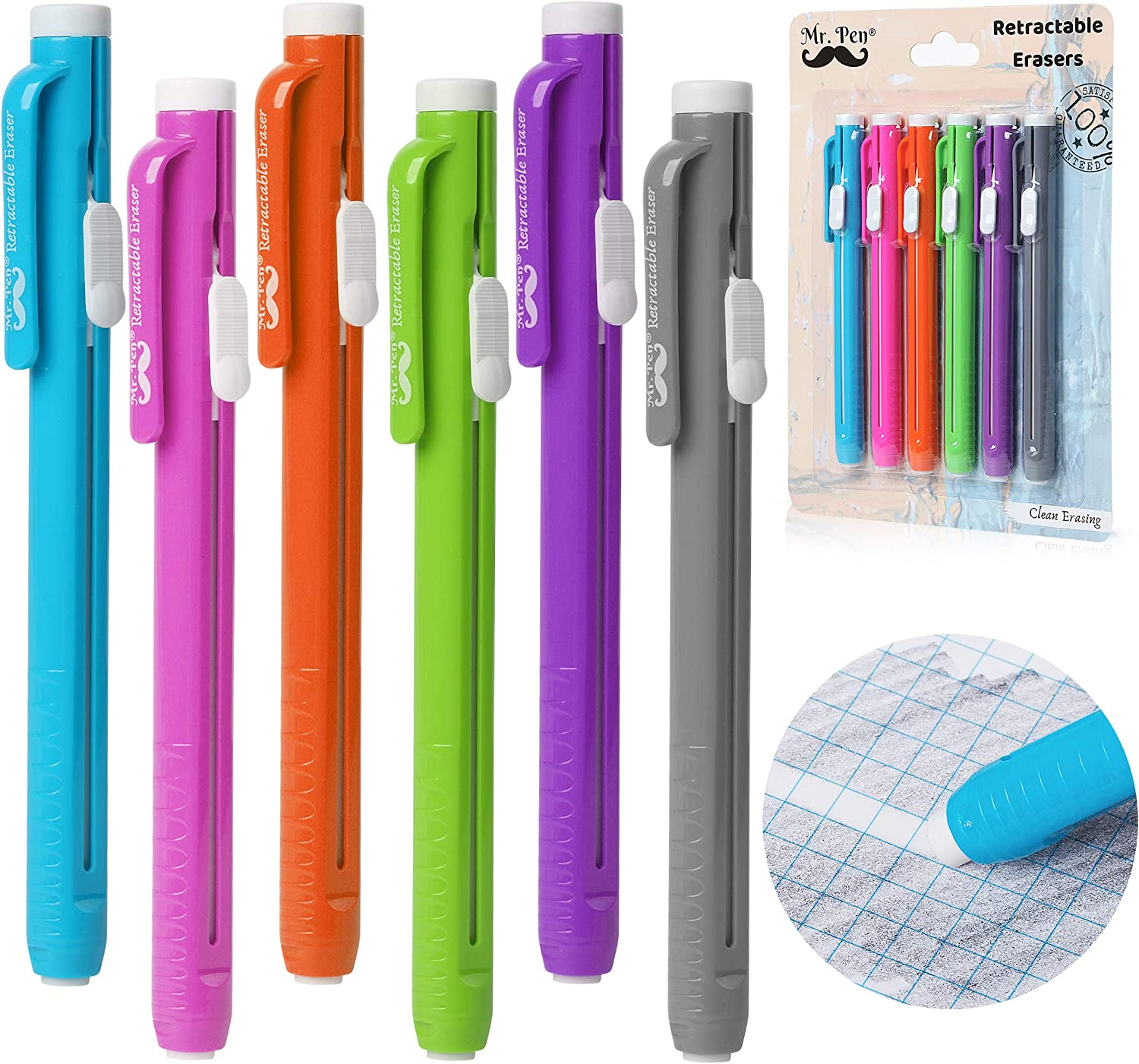 pencil writing corrections for students and artists Retractable eraser pen