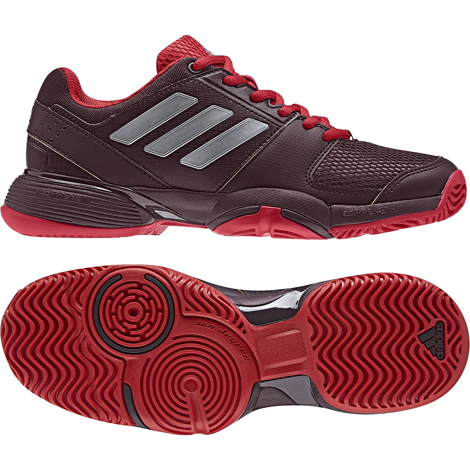 adidas Barricade Club XJ Junior Zapatilla de Tenis - AW17 (Borosc/Plamat / Escarl) 38 EU BY9971