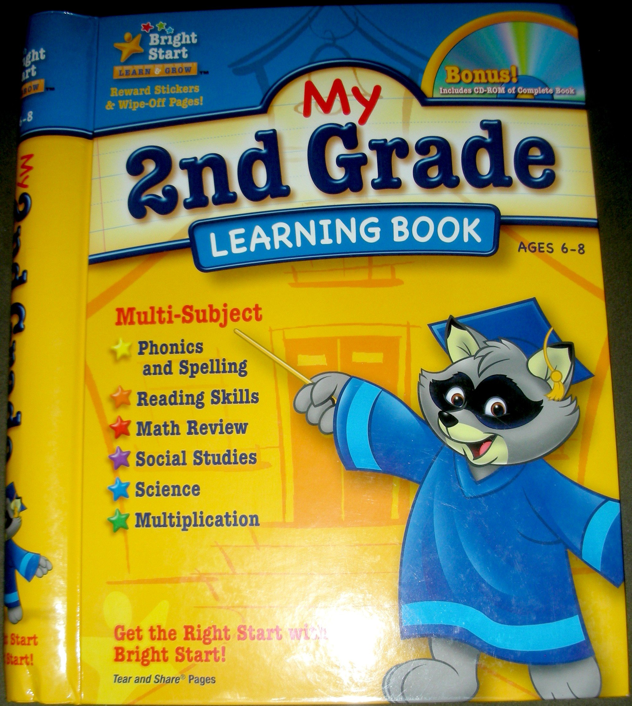 My 2nd Grade Learning Book: Bright Start: 9781403751980: Amazon.com ...