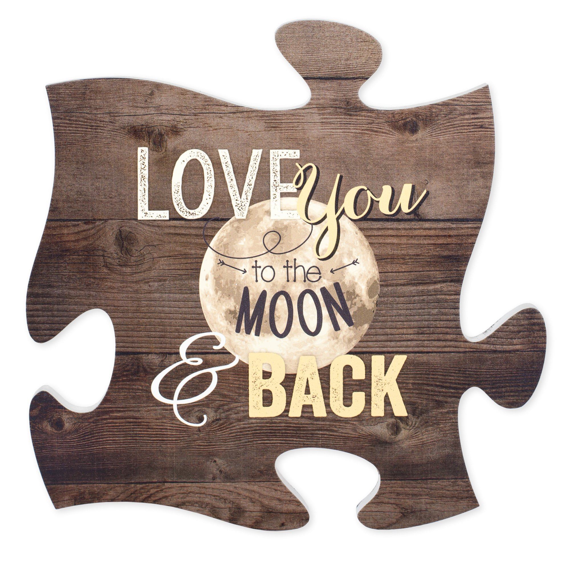 P Graham Dunn Home Sweet Home White Distressed Wood Look 12 x 12 Inch Wood Puzzle Piece Wall Plaque
