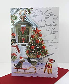 7 x cards to choose from! traditional SON AND DAUGHTER-IN-LAW christmas card