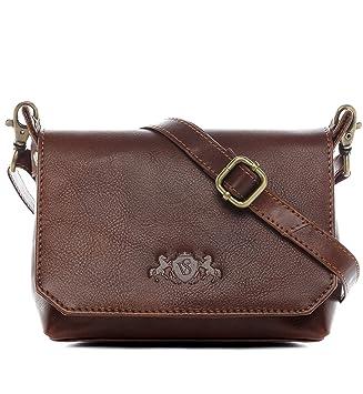 f1c39322f2271 SID   VAIN Umhängetasche Leder KERBY klein Schultertasche Unisex Handtasche  mit Schultergurt echte Ledertasche Damen Herren