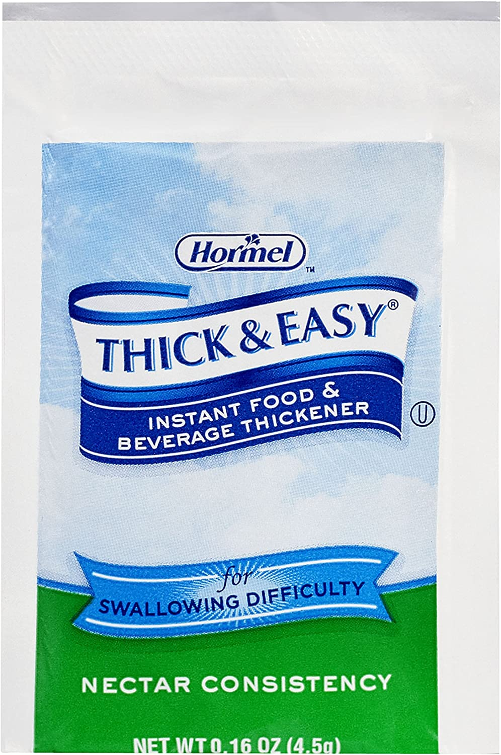 Thick & Easy Instant Food & Beverage Thickener, Nectar Consistency, 4.5 Grams (Pack of 100)