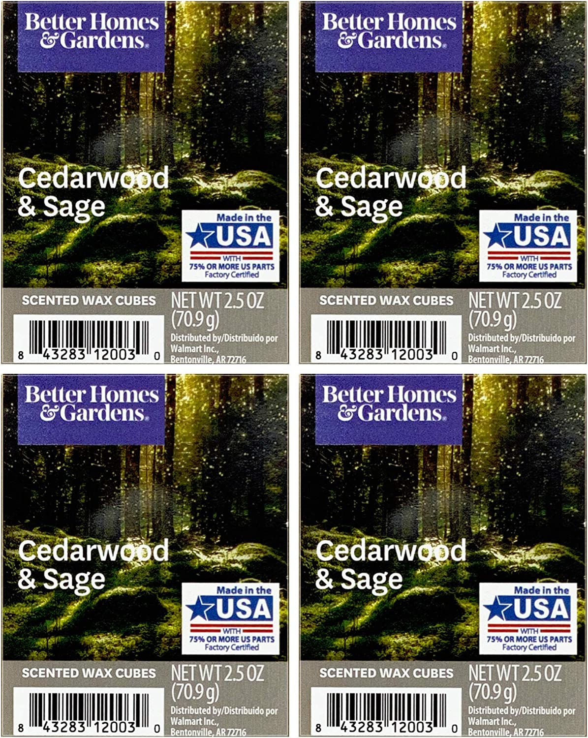 Better Homes and Gardens Cedarwood and Sage Wax Cubes 4-Pack