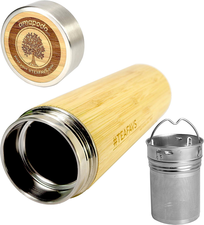 cadeau pour femmes et hommes amapodo Coffret cadeau Thermo mug th/é anniversaire id/ée cadeau bouteille de th/é 500ml