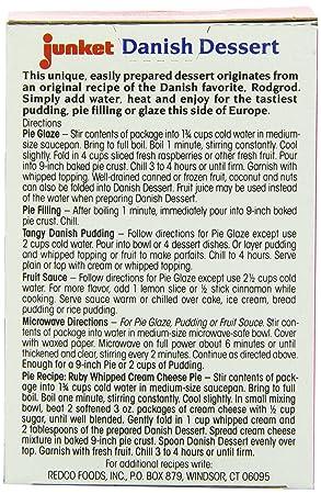Amazon.com : Junket Danish Dessert Raspberry, 4.75-Ounce (Pack of 12) : Cooking And Baking Gelatin Mixes : Grocery & Gourmet Food