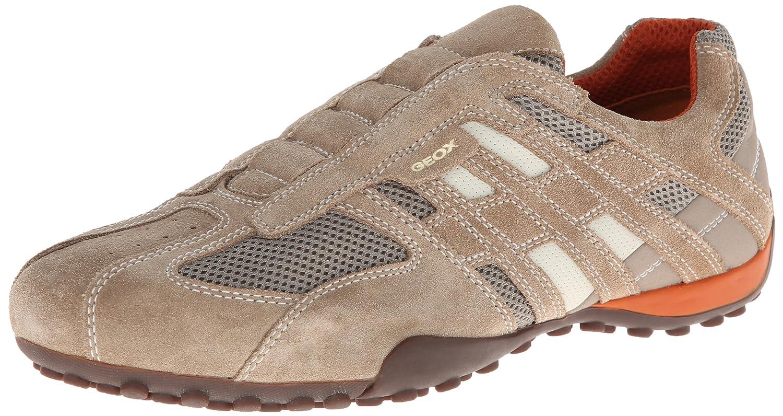 TALLA 42 EU. Geox Uomo Snake L, Zapatos para Hombre, Beige (Beige/Dk Orange C0845)