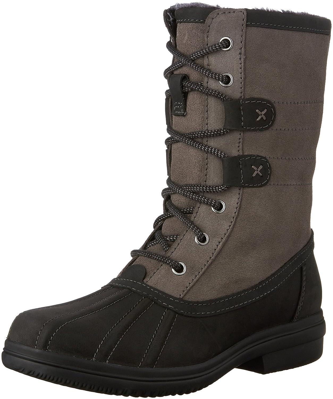 CLARKS Tavoy Juniper Rain Boots B0196UBZXA 8 B(M) US|Black Leather Combo