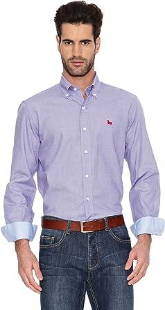 TORO Camisa Cuadro Pequeño Logo Small Azul S: Amazon.es: Ropa y accesorios