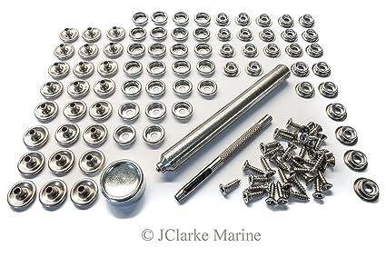 Socket /& Screw Press studs 25 Sets Snap Fasteners 316 Stainless Steel