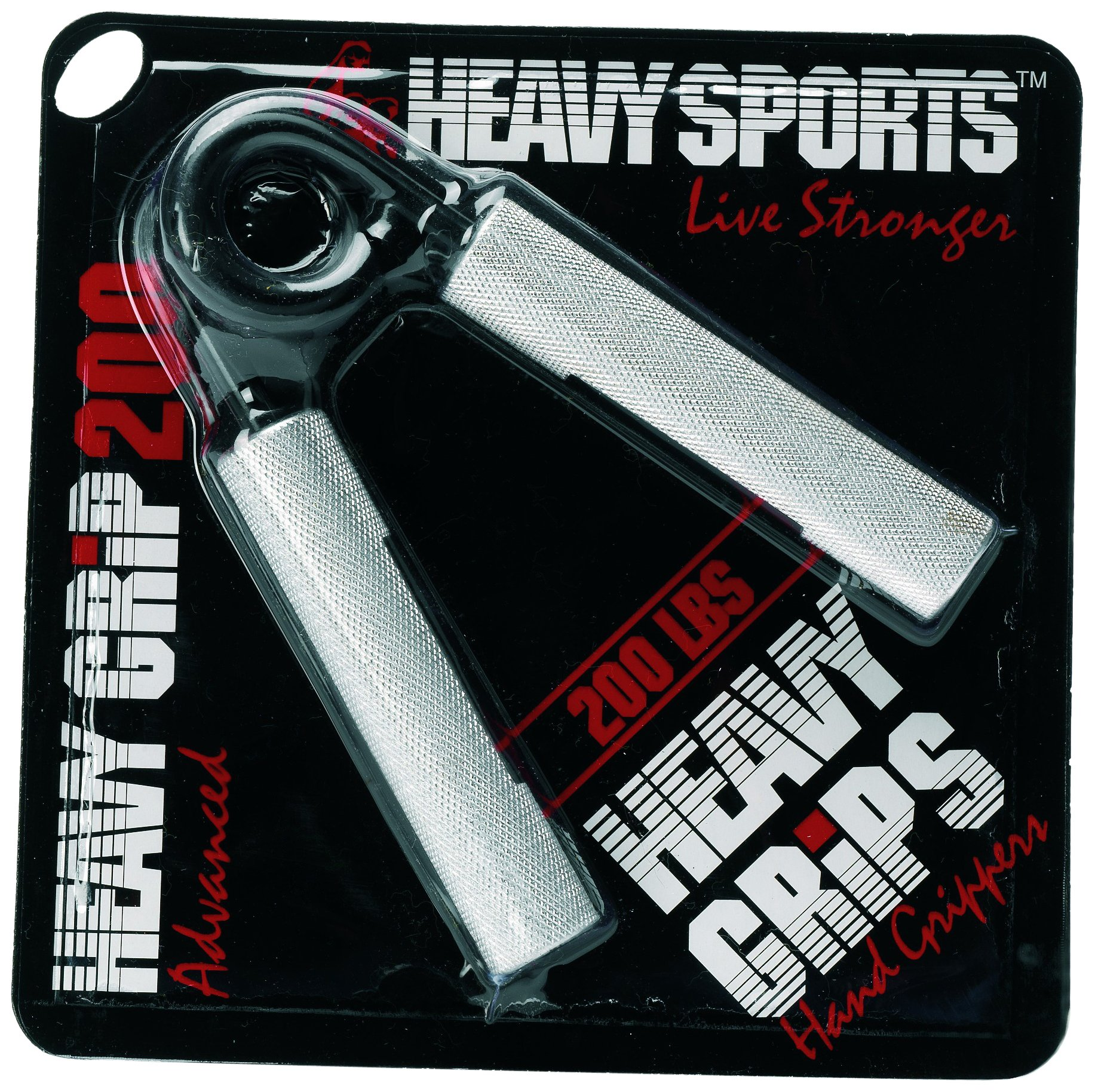 Heavy Grips - 200 lbs Resistance - Advanced - Grip Strengthener - Hand Exerciser - Hand Grippers for Beginners to Professionals by Heavy Sports