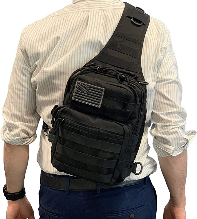 BH Tactical Sling Backpack | Military Army Rover Shoulder Bag Pack