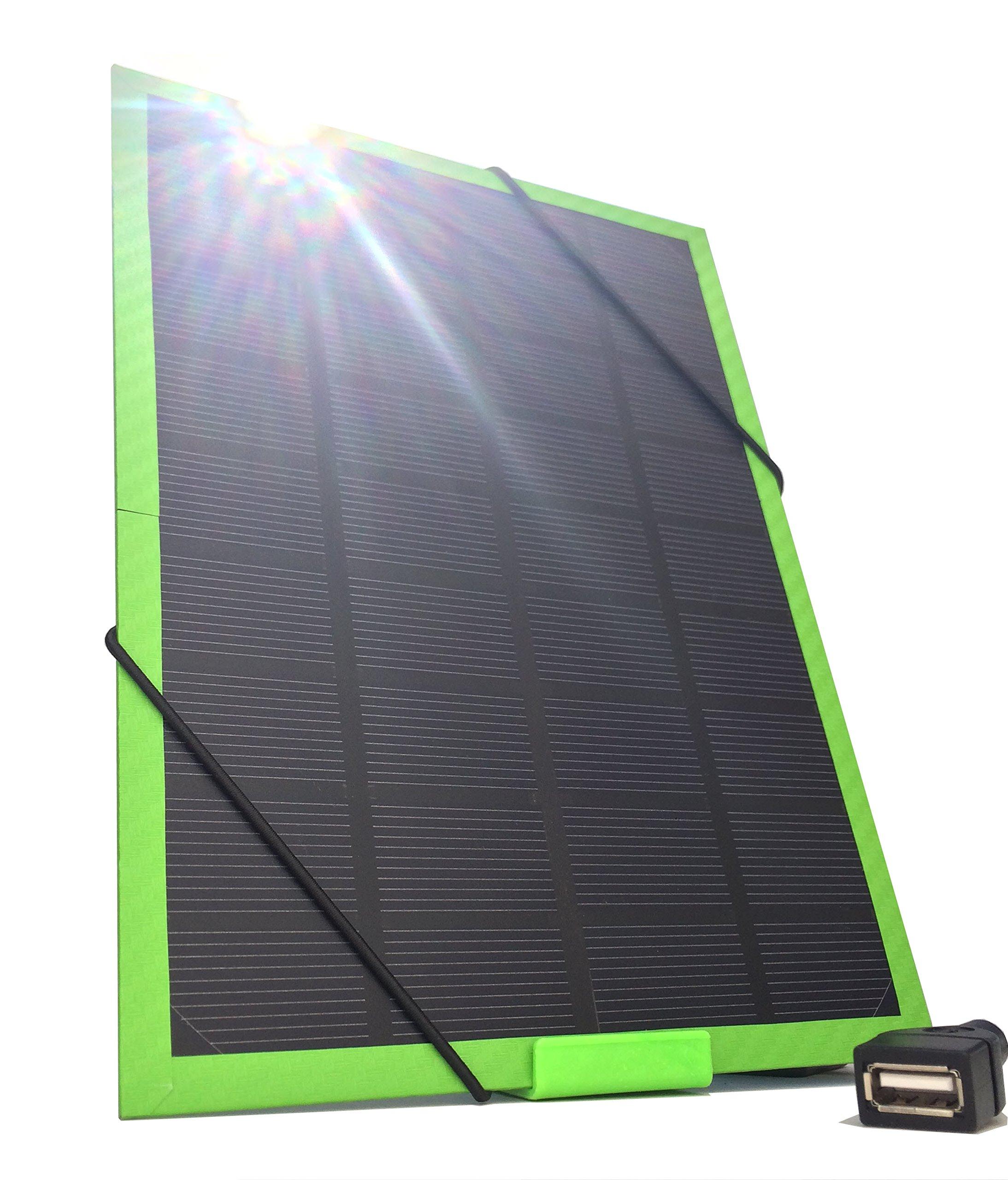 Cargador Solar Portatil de 5 Watts de Salida NEFF SOLAR Verd