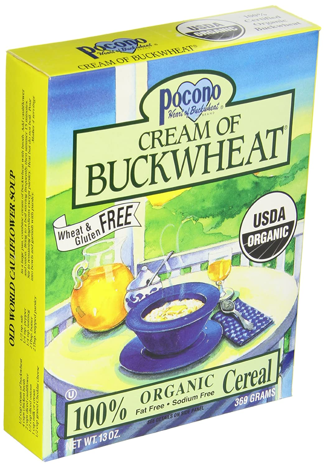 Pocono Organic Cream of Buckwheat Cereal (6x13 oz.)