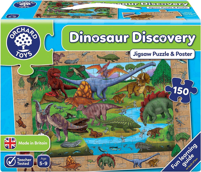 Orchard - Puzzle, diseño de Dinosaurios (en inglés): Amazon.es: Juguetes y juegos