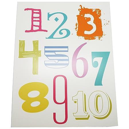 Letras del alfabeto y números pared decoración cartel para ...