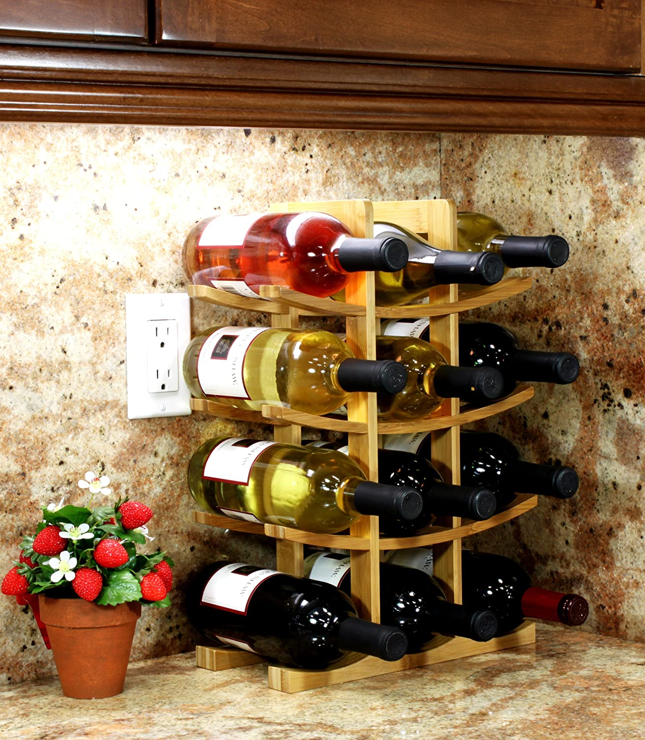 countertop racks storage wine for countertops pretty rack diy