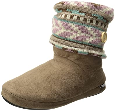Women's Legwarmer Knit-Cuff Slipper Bootie